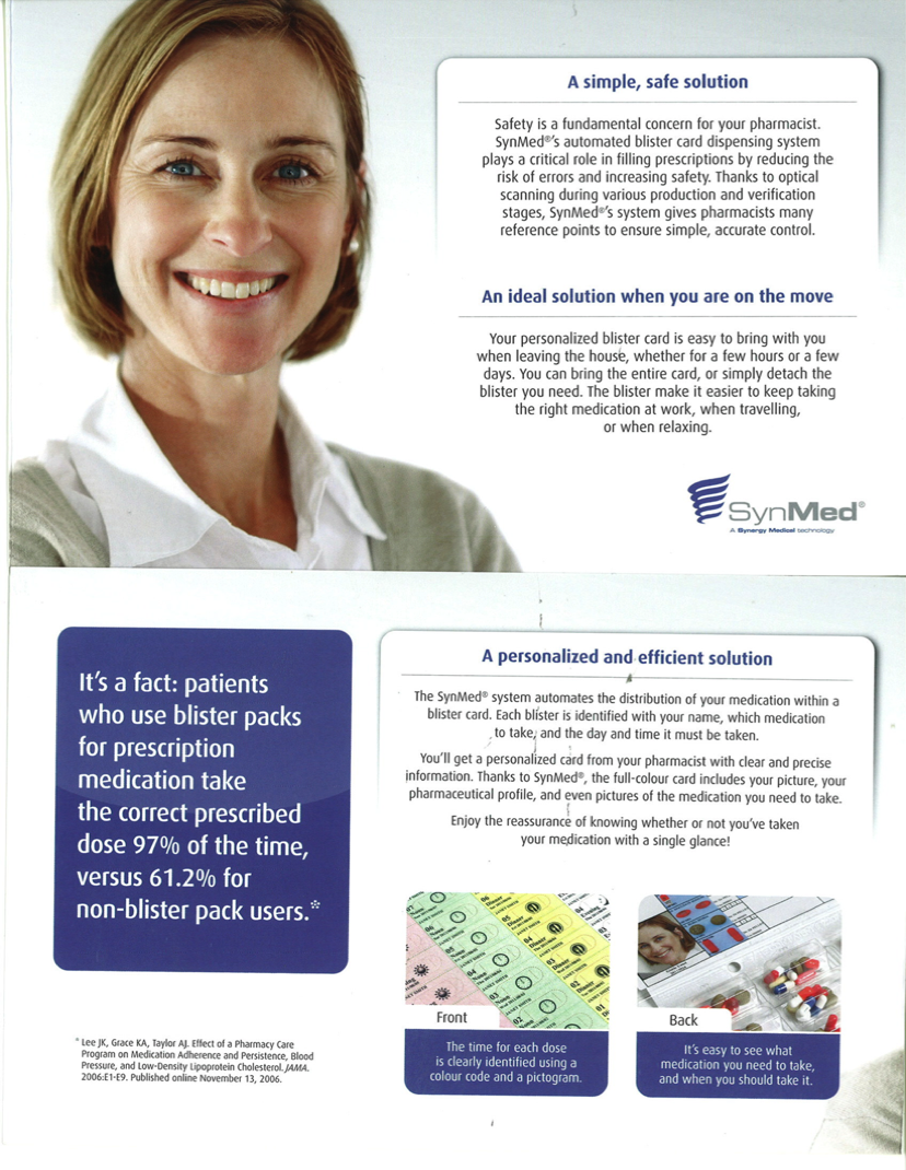 Henderson's Pharmasave Medical Packaging - Blister Packs